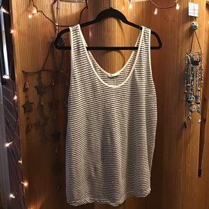 Zara Black/White Striped Tank Top Size XL